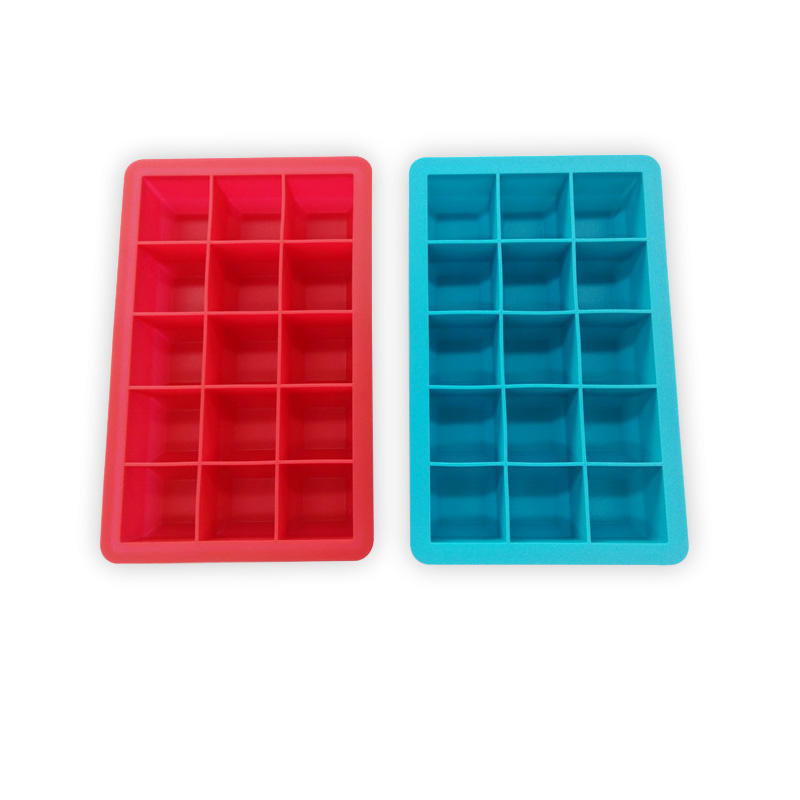 15 cavities mini square 3cm silicone freezer ice cube tray