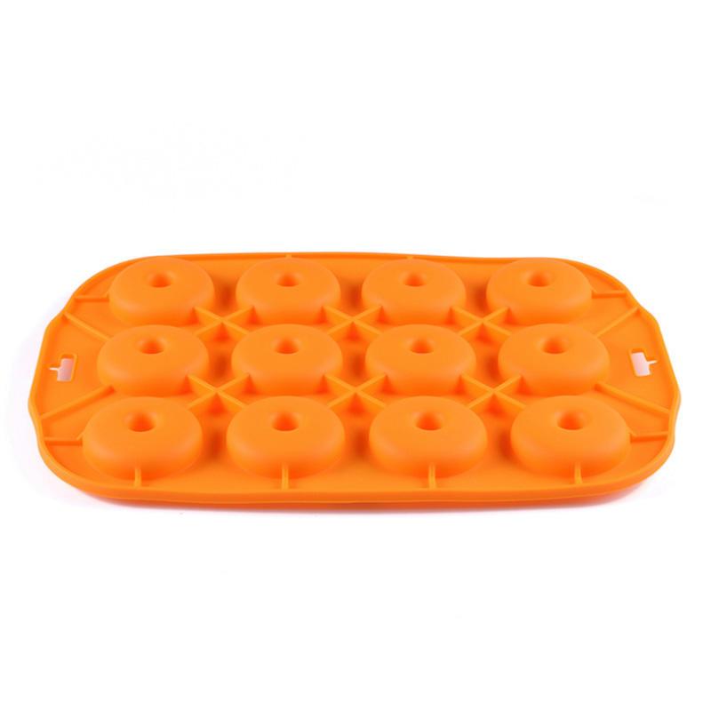 100% Food Grade 12 Cups Round Silicone Doughnut Mold Silicone Cake Mold