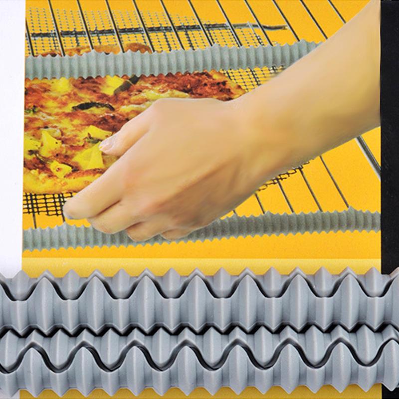 Durable silicone oven shelf guard