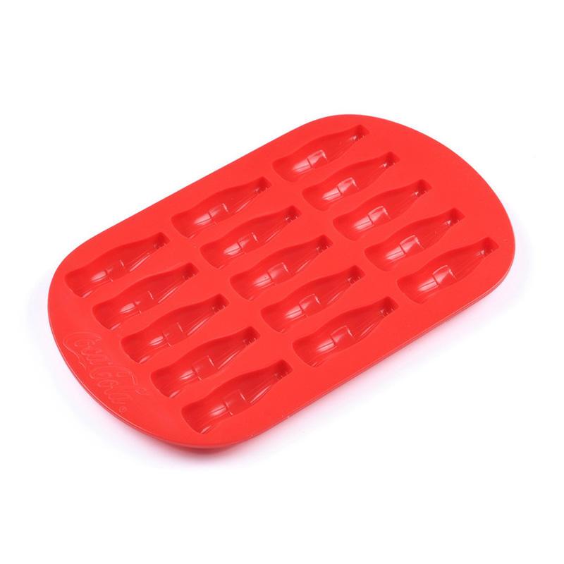 SEDEX 4 pillar factory custom logo silicone bottle shape ice cube tray