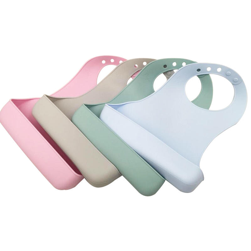 Waterproof Silicone Bib Comfortable Soft Baby Bibs