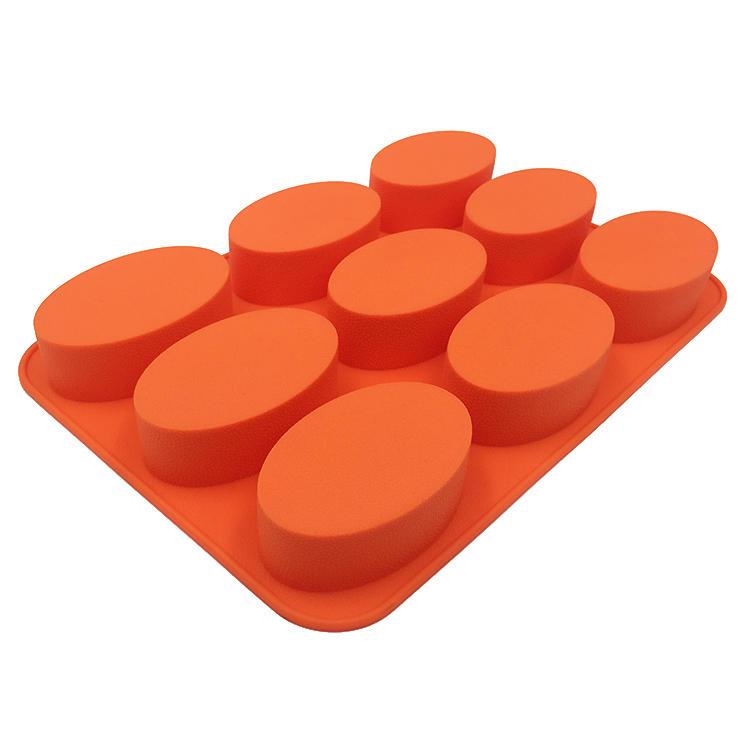 Custom Homemade Oval Shaped Silicone Soap Mold Cube