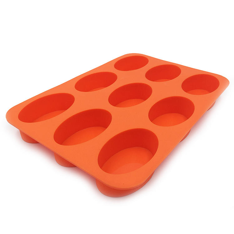 Custom Homemade Oval Shaped Silicone Soap Mold Cube
