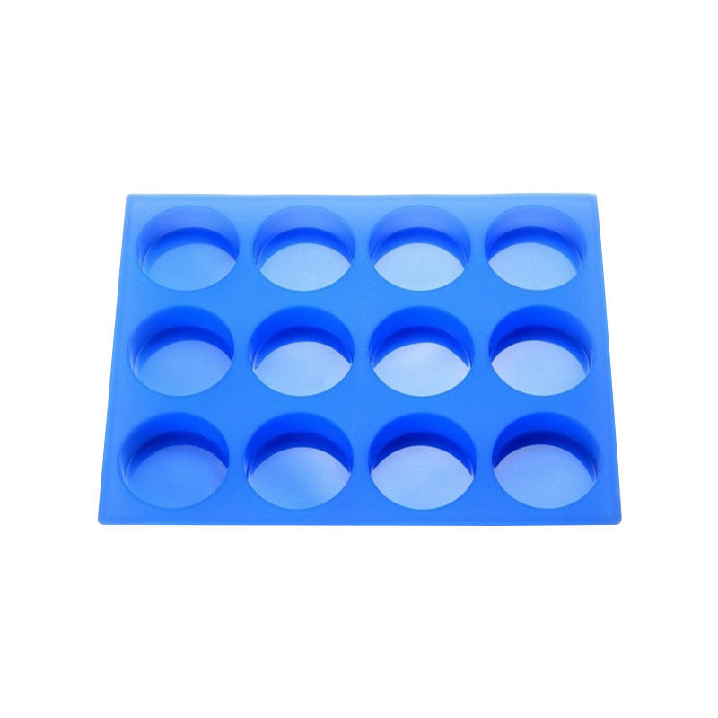Custom logo 12 cups silicone round shape soap molds