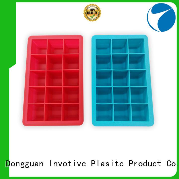 square silicone ice cube tray cone for children Invotive