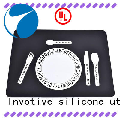 heat silicone resistant baby silicone placemats Invotive