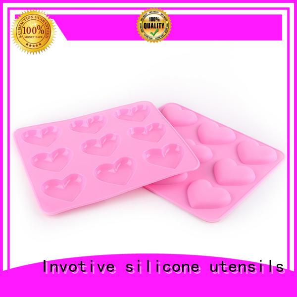 heart cone lids silicone cookware Invotive Brand