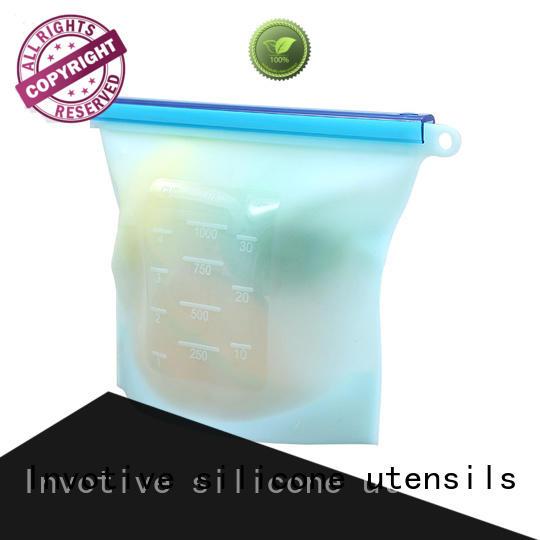 Custom silicone reusable best silicone utensil set Invotive bag