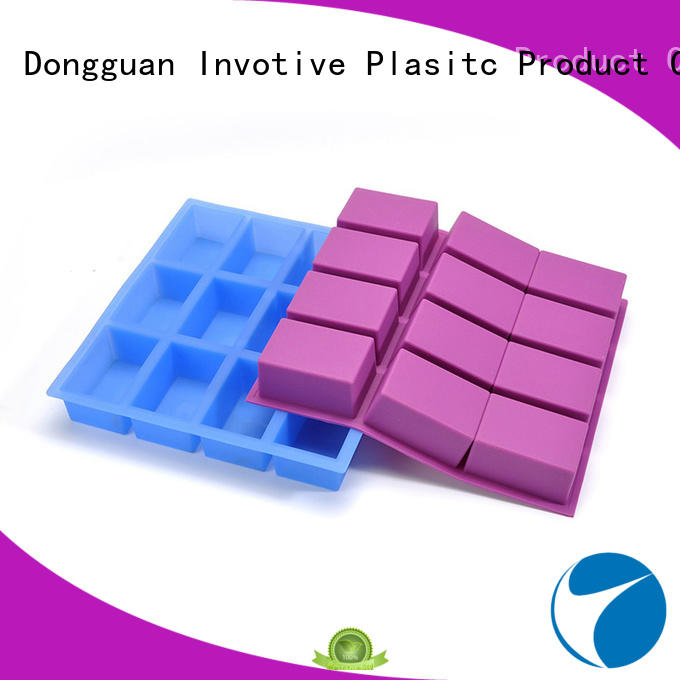 12 cups flexible rectangular silicone soap molds