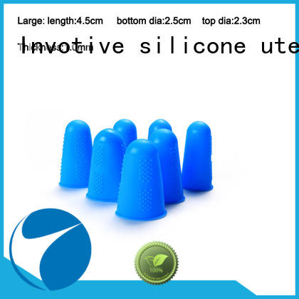 Custom silicone finger caps colorful supply for wholesale
