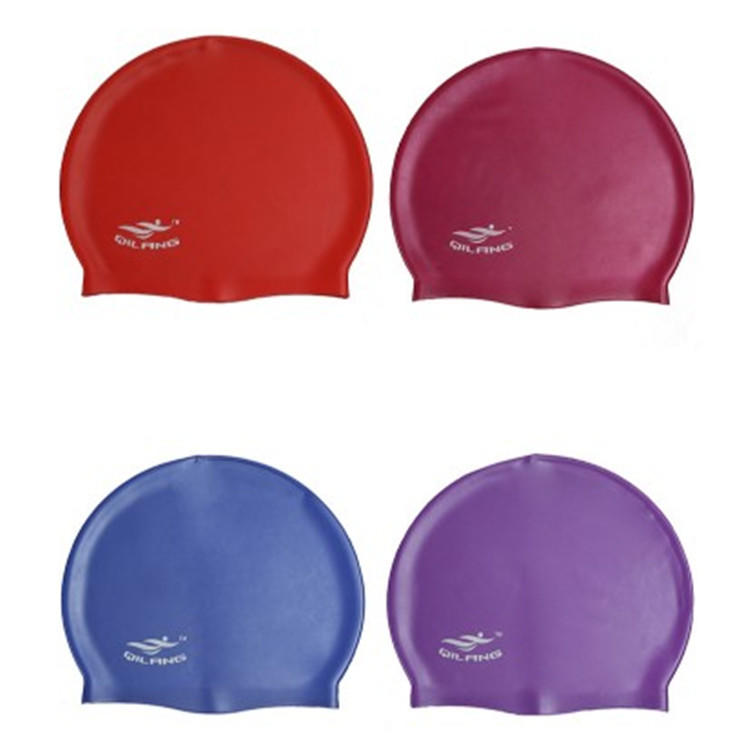 Customized printed logo Water-proof silicone swimming cap color swimming cap-2