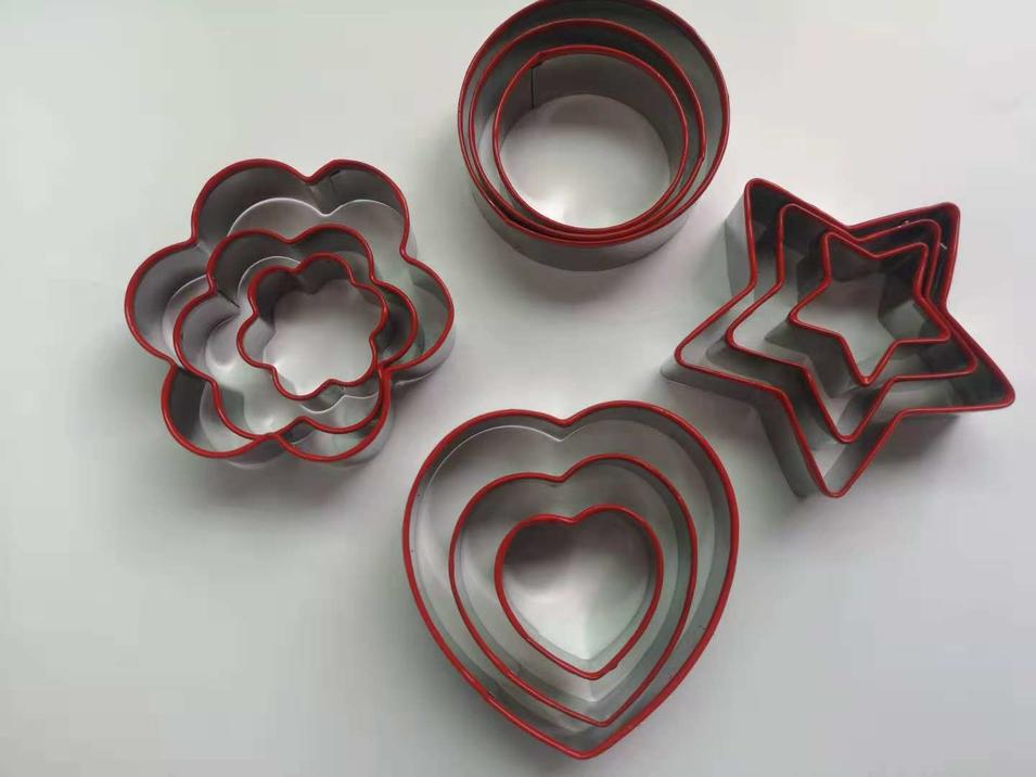 Food Grade Stainless Steel cookie cutter Christmas series silicone cookie cutter