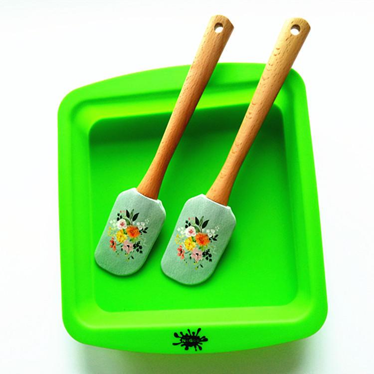 Customized color spatula silicone spatula wooden spatula