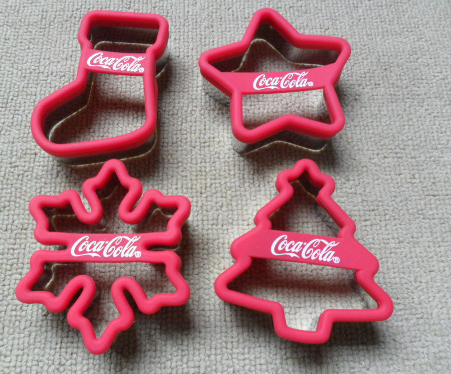 SEDEX Factory Food grade logo printed silicone christmas cookie cutter set