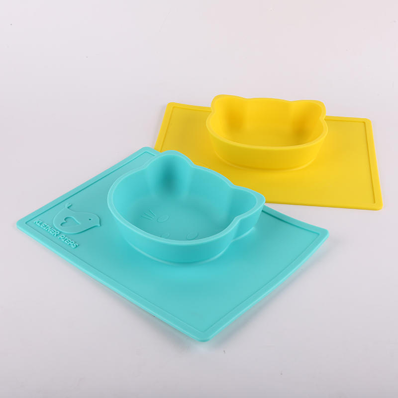 BPA Free Food grade Silicone Suction Dinner Plate Baby Placemat For Kids