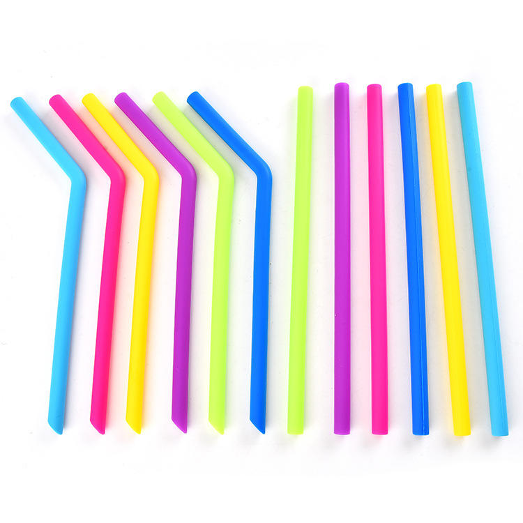 BSCI Factory Eco Friendly BPA Free Kids Safely Silicone Collapsible Straw