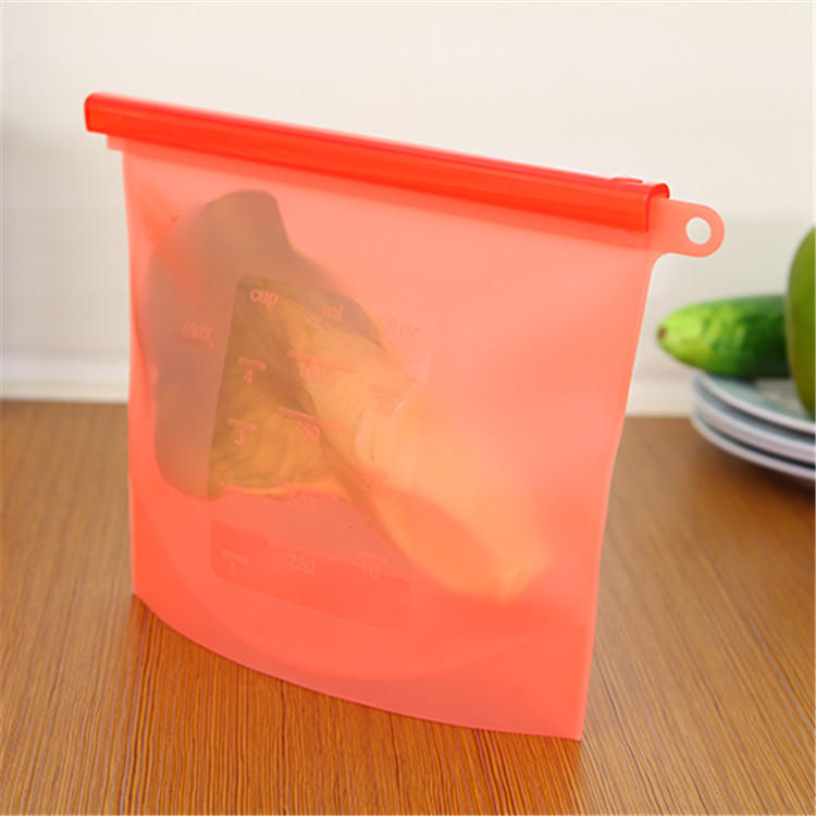 BSCI Factory Food grade Reusable silicone fresh food bag hot and cold food storage bag for Microwave and Freezer