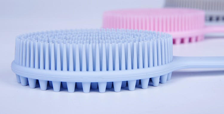 Silicone Long Handle Bath Brush Massage Brush Rub Back Soft  Brush