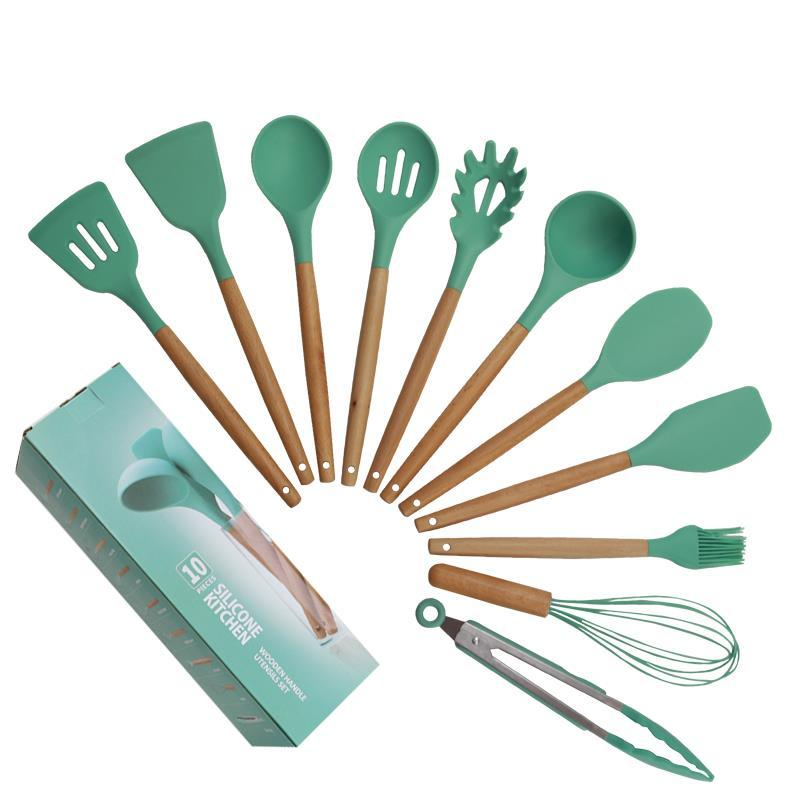 Nestle factory made 10 pcs Silicone utensil set for kitchen use