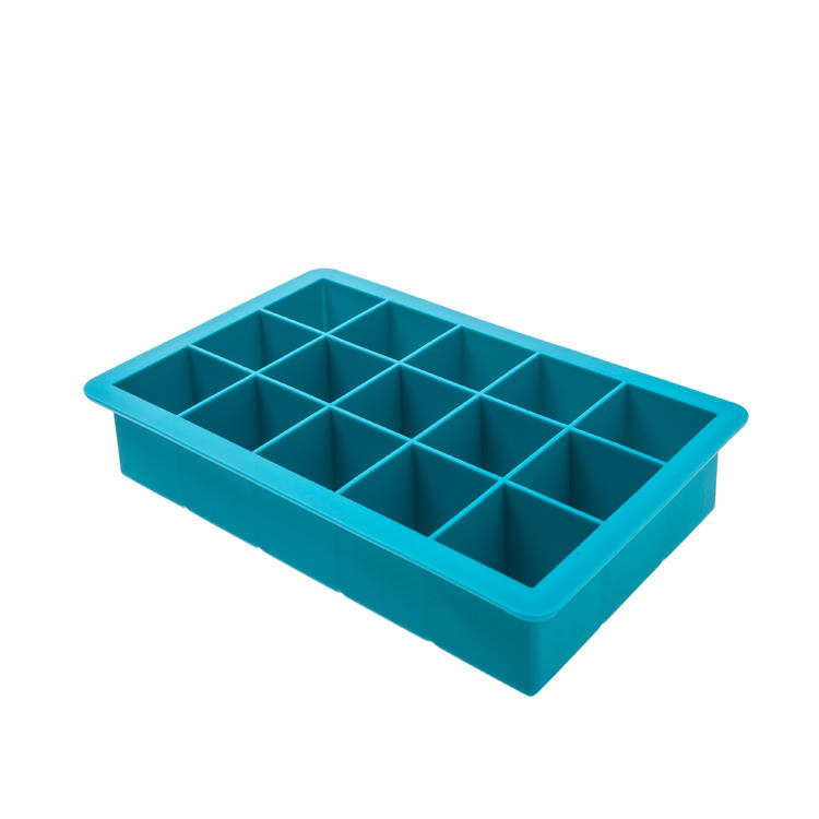 15 Cups Easy Release Silicone Silicone Ice Cube Tray