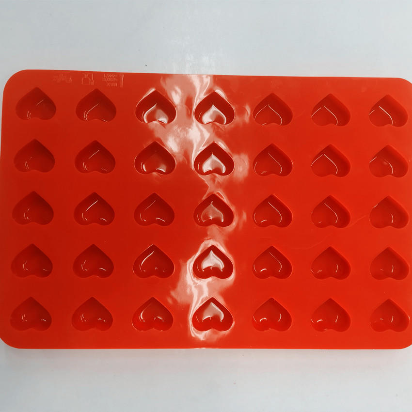 Heart Shaped Silicone Chocolate Mold Candy Mold Soft Sweets Mold Ice Tray