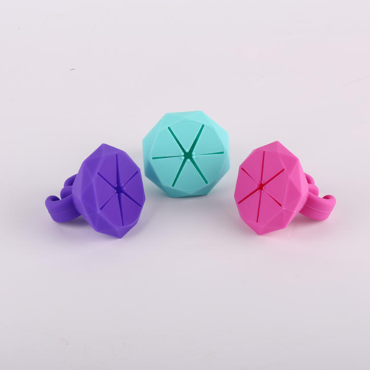 Hot Sale Silicone Colorful Nail Polish Finger Ring Holder