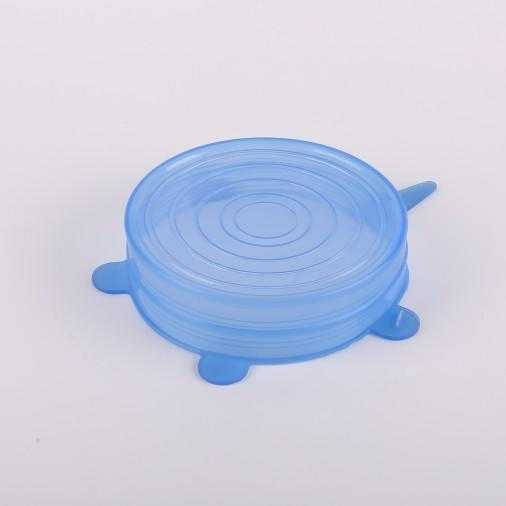 6 Packs Food Preservation Covers Silicone Stretch Lids Dish Covers Seal Covers