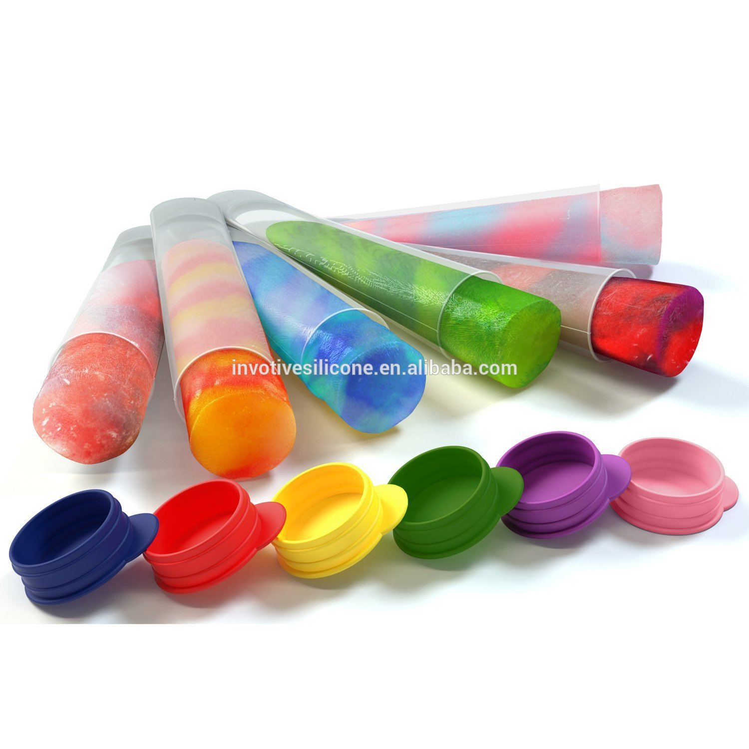 BPA free Food grade silicone ice lolly mould ice cream popsicle molds for ice pop DIY