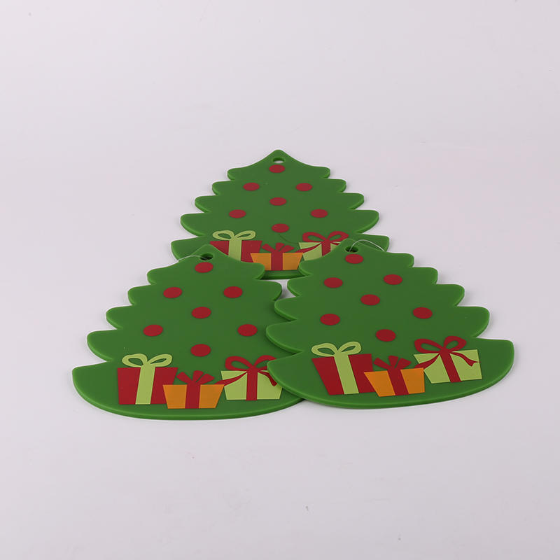 Factory Wholesale Christmas Silicone Table Mat Coaster