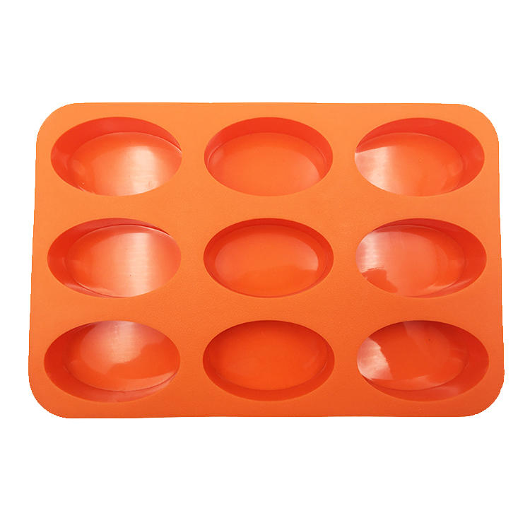 2017 Custom Homemade Round Shaped Silicone Soap Mold