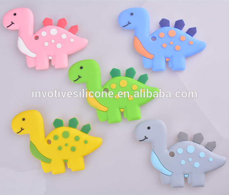 BPA free Multi color Soft Silicone baby teether and teething chew toy