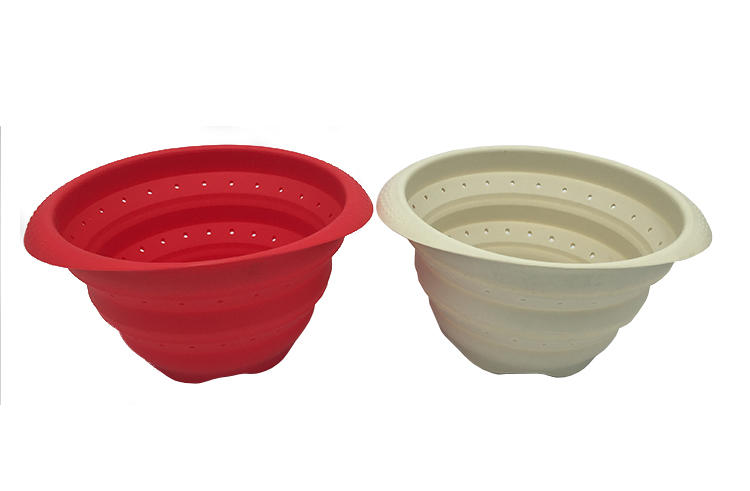 Silicone folding basket water filter basket fruit bowl vegetable basket
