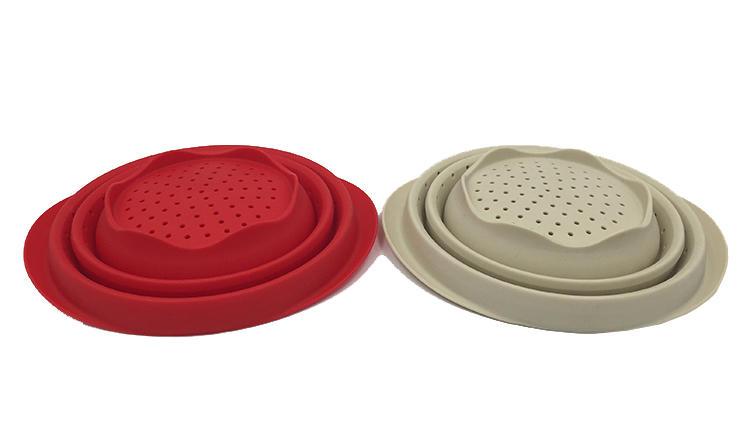 Silicone folding basket water filter basket fruit bowl vegetable basket