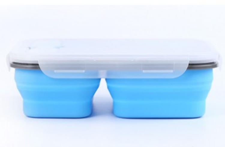 silicone folding box silicone food Storage Containers with Lids