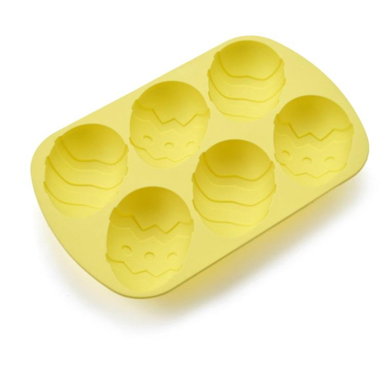 Popular egg shape silicon cake mould for easter