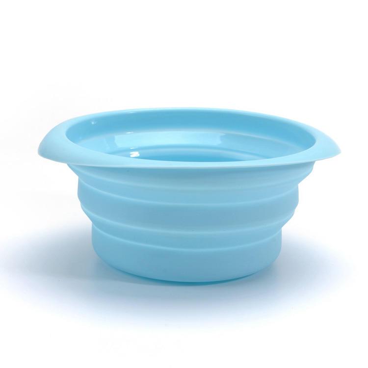 Custom Logo Flexible Silicone collapsible Foldable Travel Pet Bowl