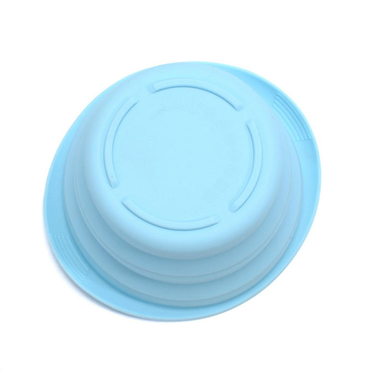 Custom Logo Flexible Silicone collapsible Foldable Travel Pet Bowl