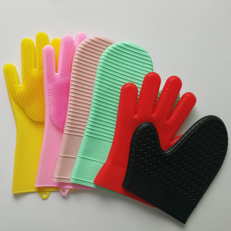 Heat Resistant Silicone Kitchen Gloves Dishwashing Gloves