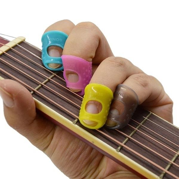 Sedex Factory food grade anti-slip soft silicone rubber finger cots finger cover protector for play guitar