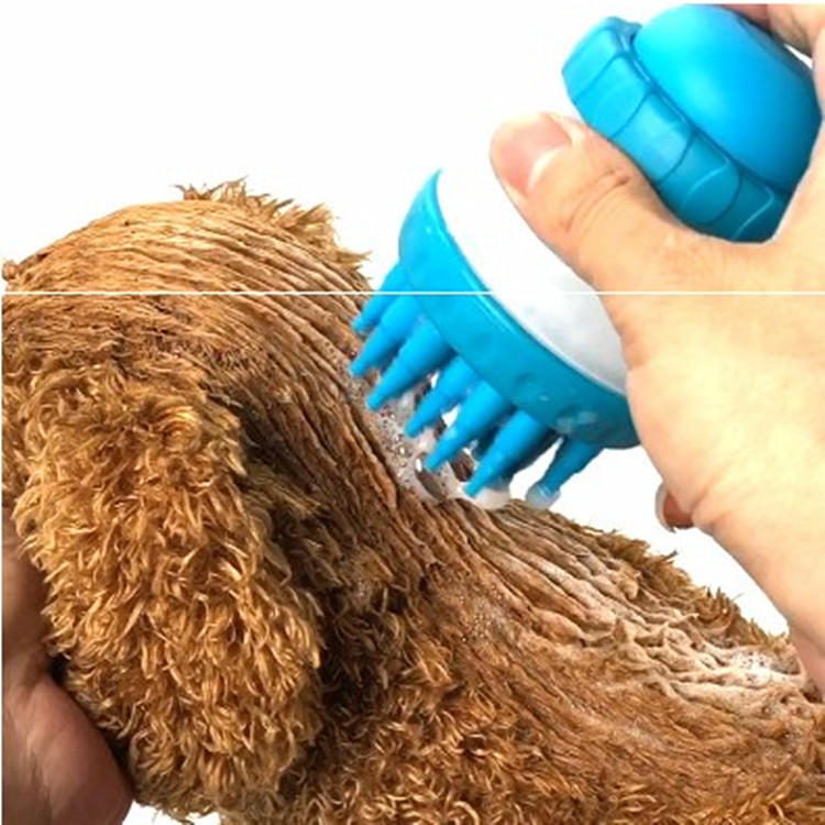 Silicone pet brush bath brush depilation brush