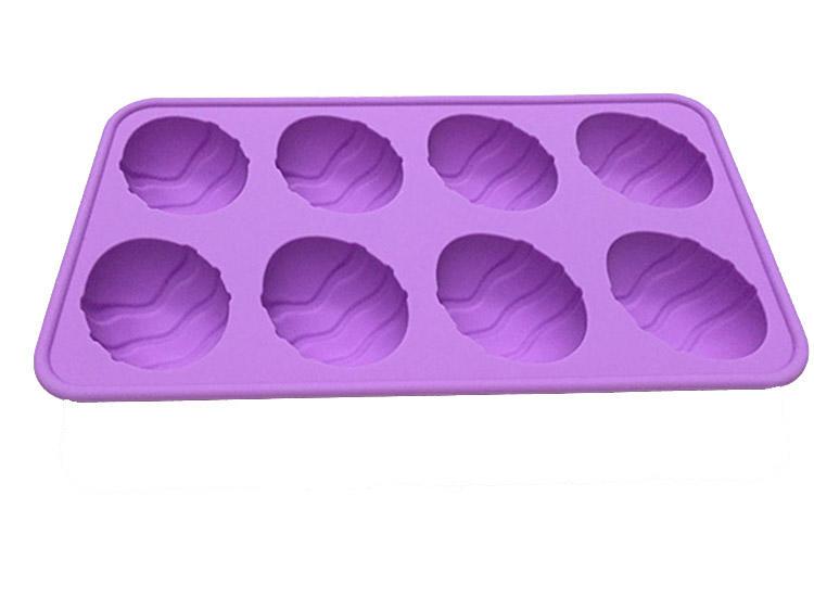6 Cavity Egg Shape Silicone Mold for Soap Cake Bread Cupcake Cheesecake Cornbread Muffin