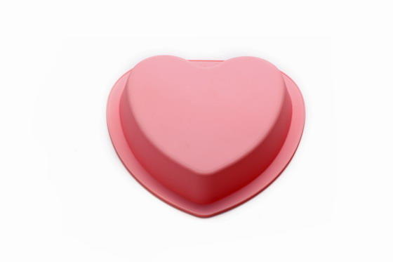 Hot Selling Silicone 6 Holes Cake Mold Heart Shaped Baking Mold