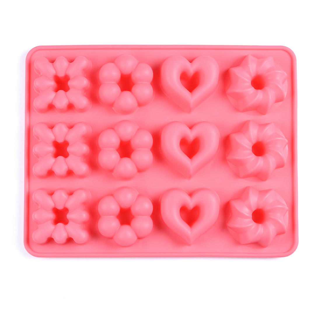 Non stick flower  shape silicone cookies mold and biscuits mold fondant cake mould