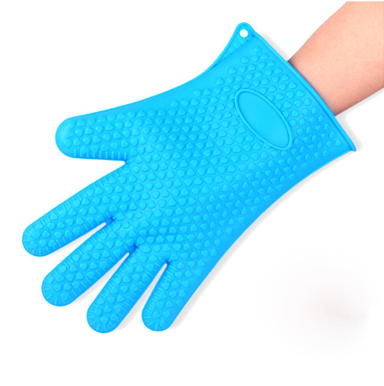 Hot Selling Heat Resistant Kitchen Silicone BBQ Grill Oven Glove