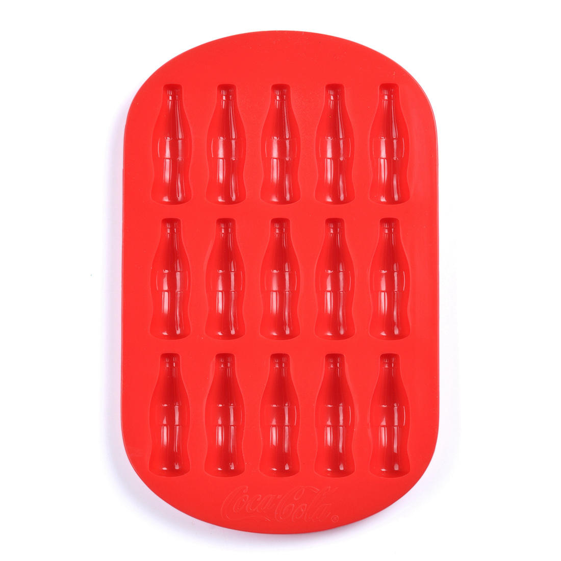 BSCI Factory Food grade Coca cola bottle shape silicone ice cube trays ice mold for promotional gift