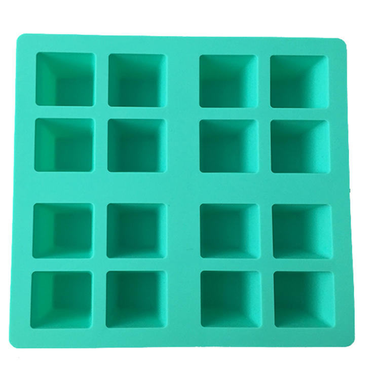 16 cavity square silicone ice cube tray ice form ice tray