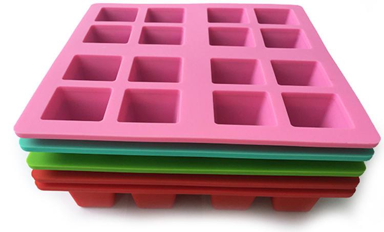 16 cavity square silicone ice cube tray ice form ice tray