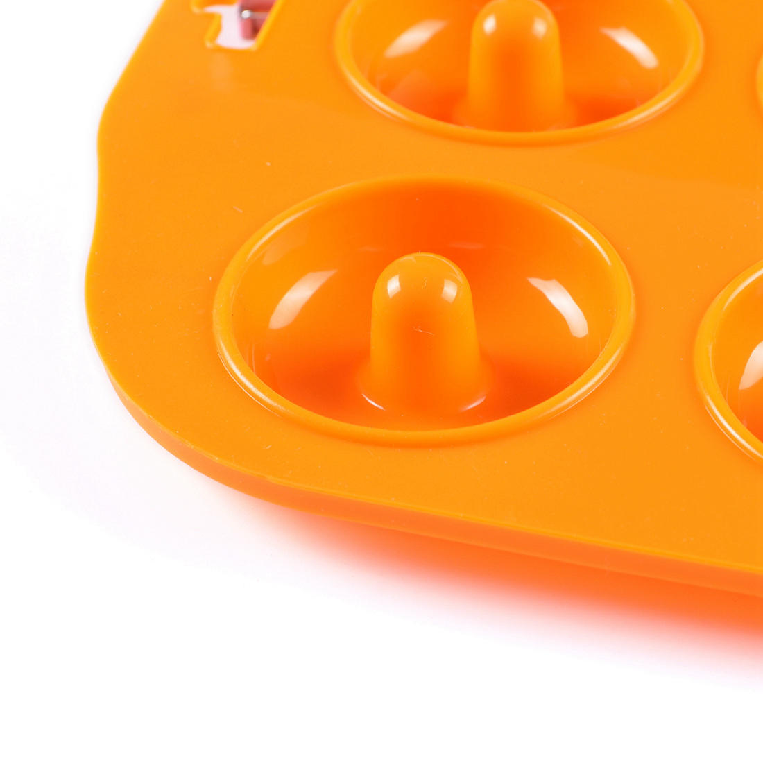 Promotional logo printed 6 Cavities Standard size silicone donut pan