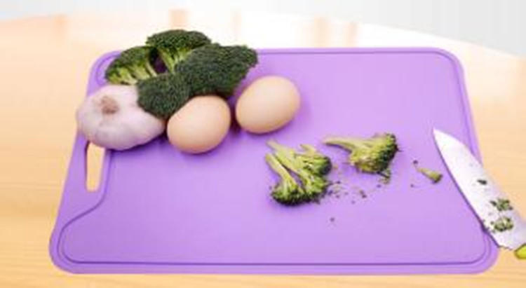 Flexible Silicone Cutting Board Plate Anti Slip Vegetables Meat Chopping Block Cutting Boards Fruit Cutting Boards