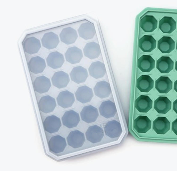 24 holes Diamonds Gem Cool Ice Cube Tray Silicone Chocolate Candy Mold